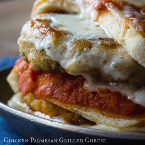 The Lazy Mom's Cooking Blog: Chicken Parmesan Grilled Cheese