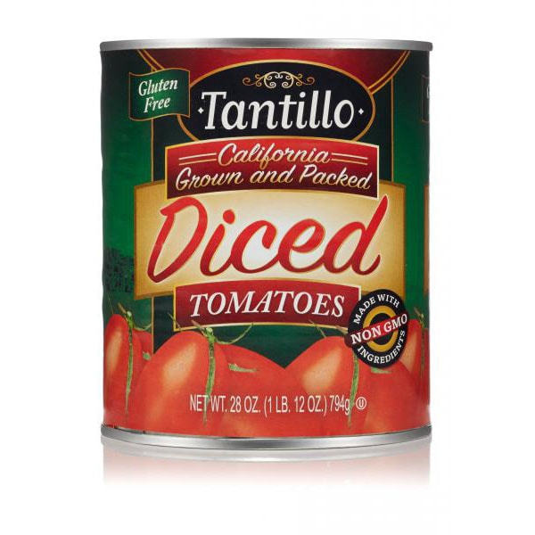 Tantillo California Diced Tomatoes – 28oz