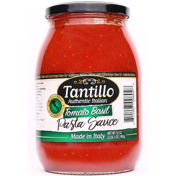 NEW* Tantillo Authentic Italian Tomato Basil Pasta Sauce – 35oz