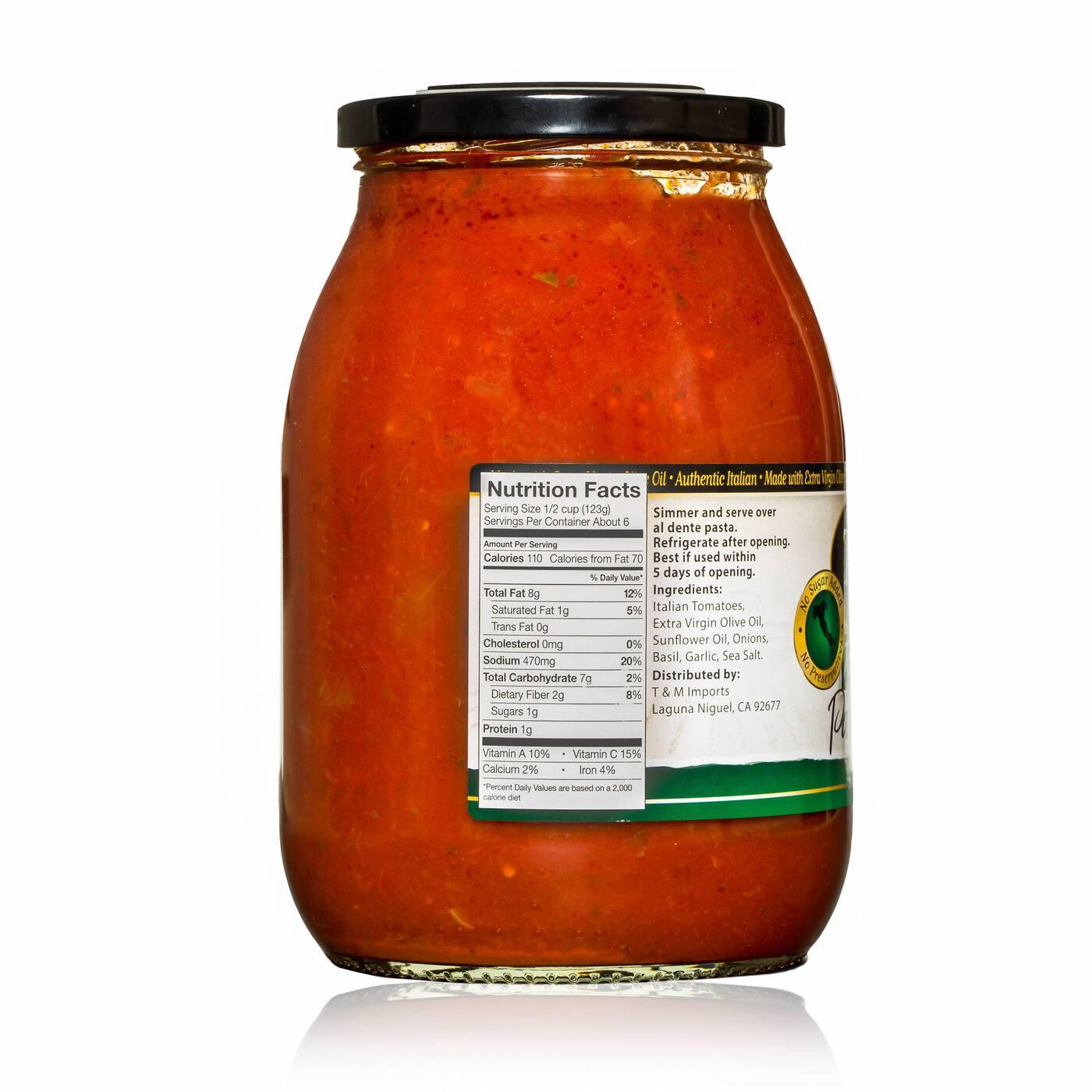 Tomato Basil Ingredients/Nutritional