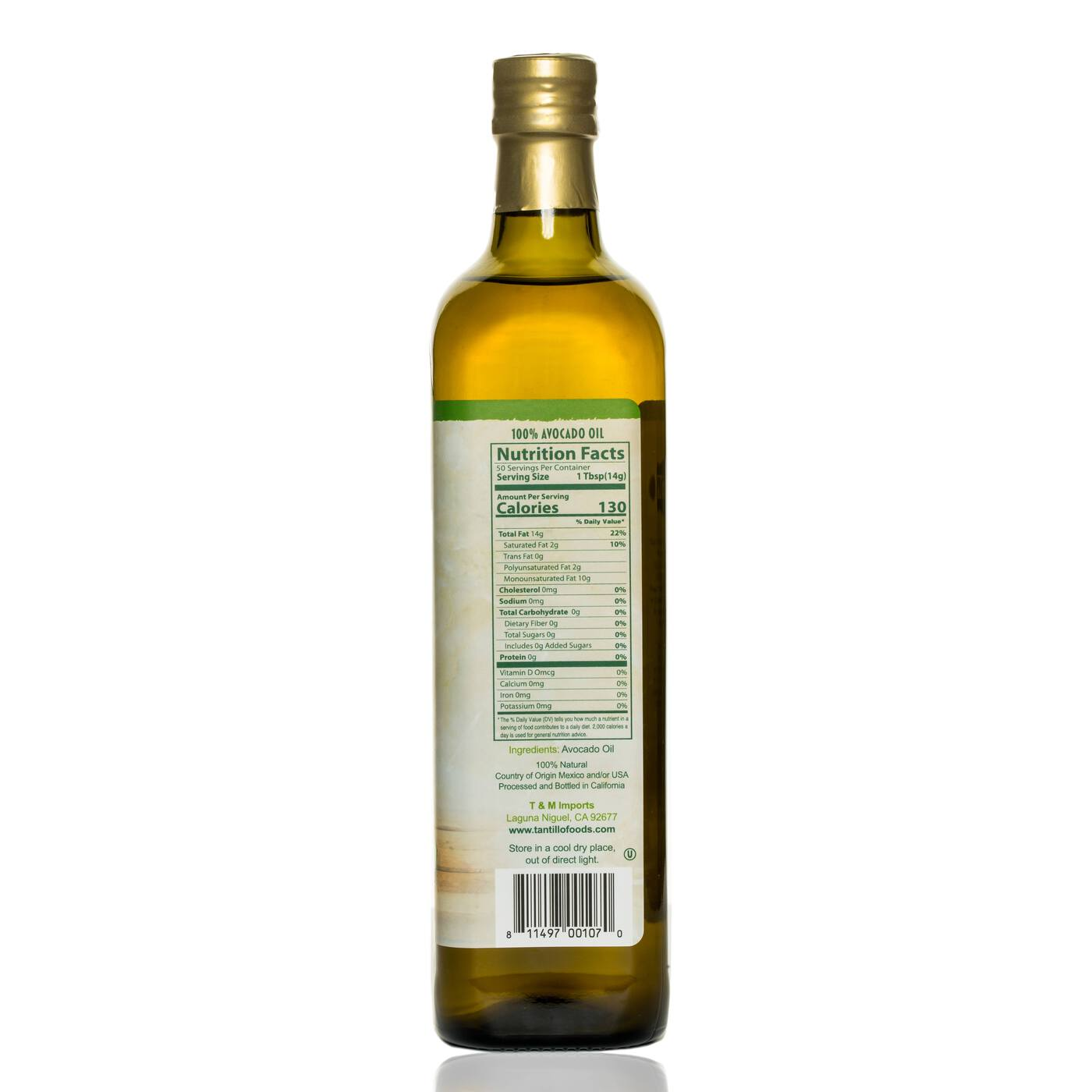 Avocado Oil Nutritional