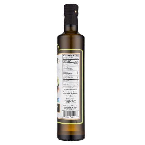 Avocado Oil 500Ml Nutritional Scaled