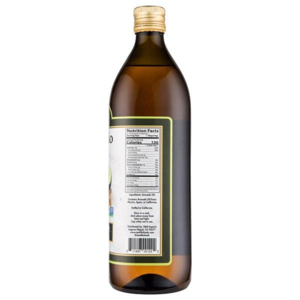 Avocado Oil Nutrtional Scaled