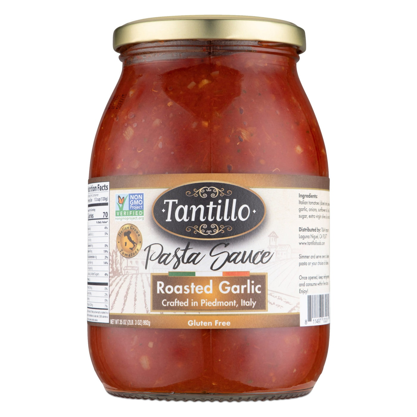 Tantillo Imported Italian Roasted Garlic Sauce 35oz (Pack of 2)