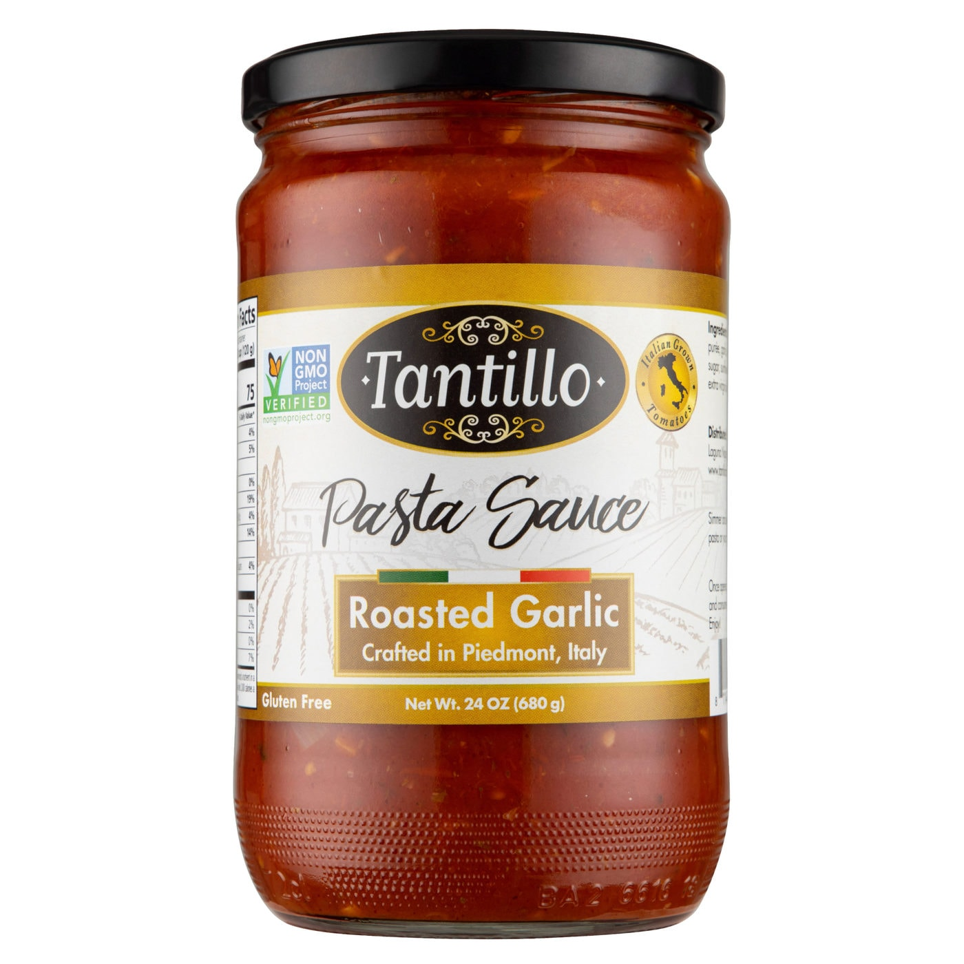 Tantillo Imported Italian Roasted Garlic Pasta Sauce 24oz (Pack of 2)